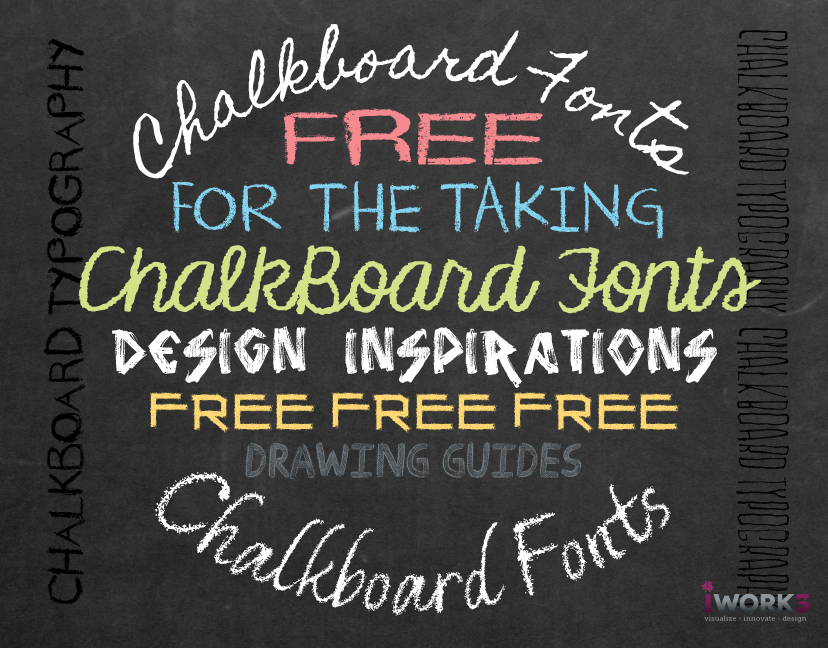chalkboard lettering Instant downloads for 166 free chalk fonts for you professionals, 27 are 100% free for commercial-use.